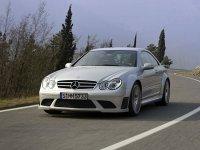 На Mercedes CLK класс W209 спортивная регулируемая подвеска, пружины с занижением.
