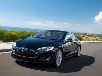 Тюнинг обвес на Tesla Model S - накладка на передний бампер, пороги.