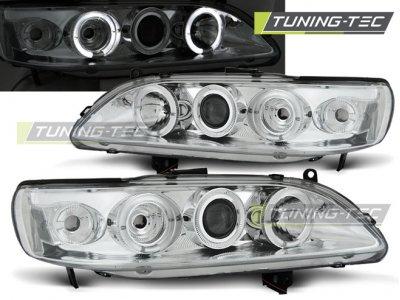 Передние фары с ангельскими глазками хром от Tuning-Tec для Honda Accord VI USA
