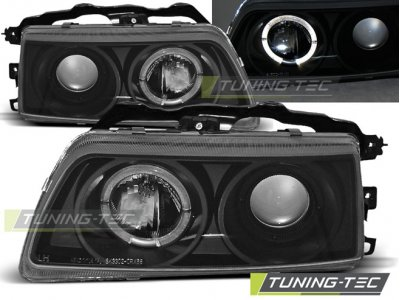 Фары передние Angel Eyes Black от Tuning-Tec для Honda CRX