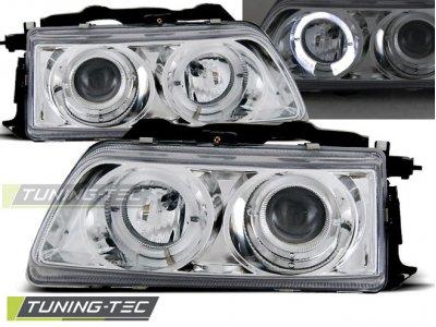Фары передние Angel Eyes Chrome от Tuning-Tec для Honda CRX рестайл