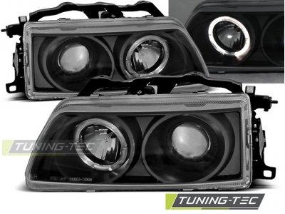 Фары передние Angel Eyes Black от Tuning-Tec для Honda CRX рестайл