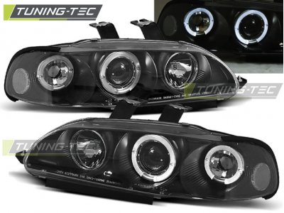 Фары передние Angel Eyes Black от Tuning-Tec для Honda Civic V 2D / 3D