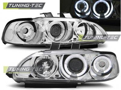 Фары передние Angel Eyes Chrome от Tuning-Tec для Honda Civic V 4D