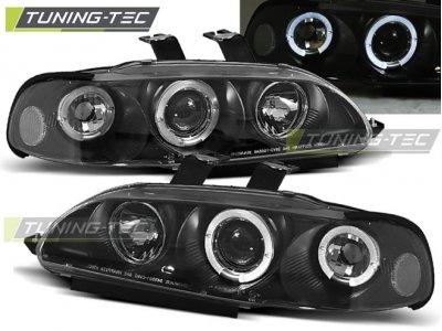 Фары передние Angel Eyes Black от Tuning-Tec для Honda Civic V 4D