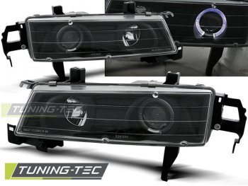 Фары передние Angel Eyes Black от Tuning-Tec для Honda Prelude IV