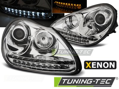 Фары передние Daylight Chrome XENON для Porsche Cayenne I