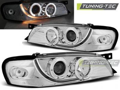 Передние фары Angel Eyes Chrome от Tuning Tec на Subaru Impreza I
