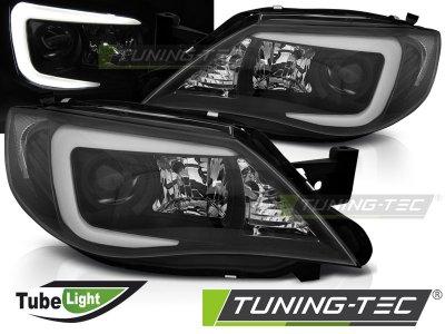 Передние фары TubeLight Black от Tuning-Tec на Subaru Impreza III