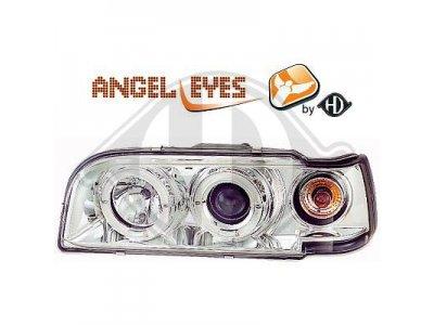 Фары передние Angel Eyes Chrome на Volvo 850