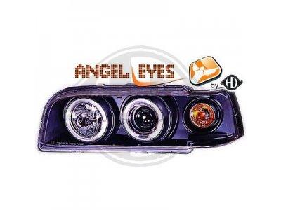 Фары передние Angel Eyes Black на Volvo 850