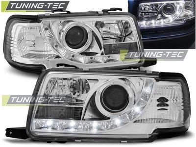 Передние фары Daylight Chrome для Audi 80 B4