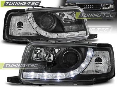Передние фары Daylight Black для Audi 80 B4
