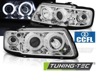 Фары передние Tuning-Tec CCFL Angel Eyes Chrome для Audi A3 8L