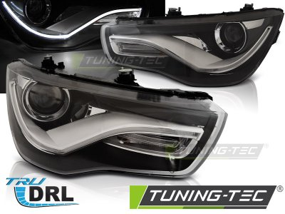 Фары передние NeonTube Black на Audi A1 8X