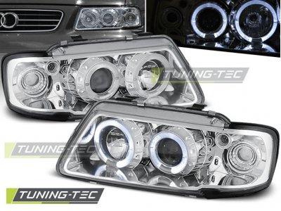 Фары передние Tuning-Tec с глазками Chrome для Audi A3 8L