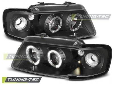 Фары передние Tuning-Tec с глазками Black для Audi A3 8L