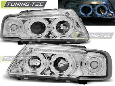 Фары передние Tuning-Tec с бровкой Chrome для Audi A3 8L