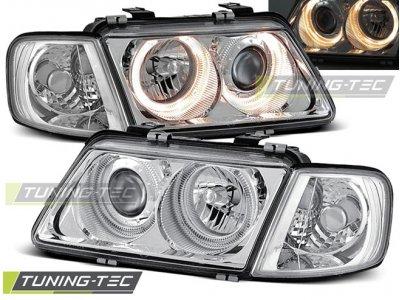 Фары передние Tuning-Tec Angel Eyes Chrome для Audi A3 8L