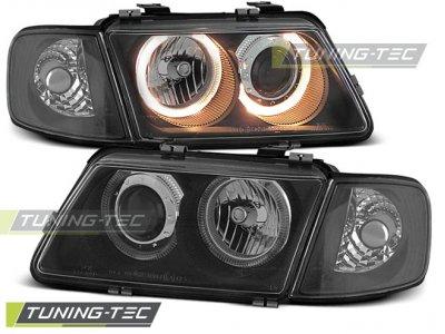 Фары передние Tuning-Tec Angel Eyes Black для Audi A3 8L