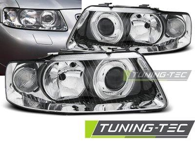 Фары передние с линзой Tuning-Tec Chrome для Audi A3 8L рестайл