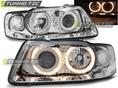 Фары передние Tuning-Tec Angel Eyes Chrome для Audi A3 8L рестайл