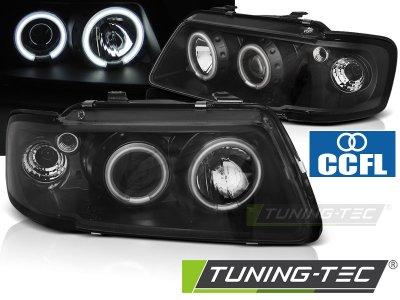 Фары передние Tuning-Tec CCFL Angel Eyes Black для Audi A3 8L