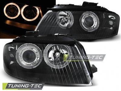 Фары передние Angel Eyes Black для Audi A3 8P