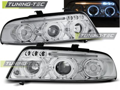 Фары передние Angel Eyes Chrome от Tuning-Tec для Audi A4 B5 рестайл