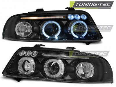 Фары передние Angel Eyes Black от Tuning-Tec для Audi A4 B5 рестайл
