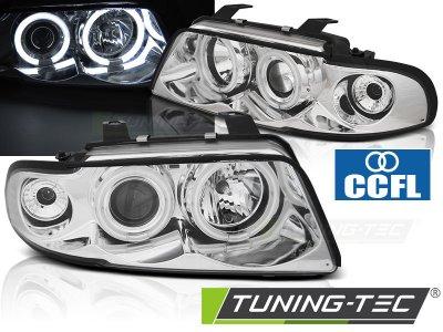 Фары передние CCFL Angel Eyes Chrome от Tuning-Tec для Audi A4 B5