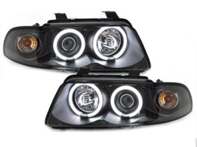Фары передние CCFL Angel Eyes Black для Audi A4 B5