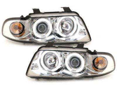 Фары передние CCFL Angel Eyes Chrome для Audi A4 B5
