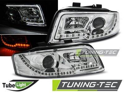 Фары передние Tube Light Evo Chrome для Audi A4 B6