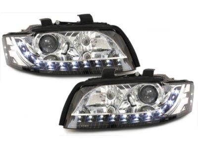 Фары передние Monolight Black для Audi A4 B6