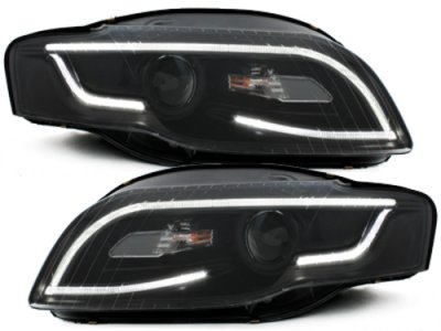 Фары передние Dlite Black для Audi A4 B7 XENON
