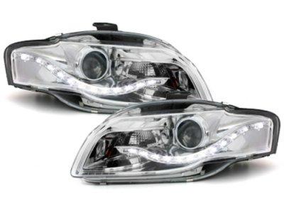Фары передние Monolight Chrome для Audi A4 B7
