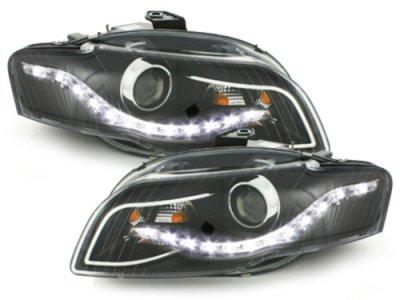 Фары передние Monolight Black для Audi A4 B7