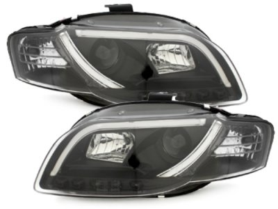 Фары передние Dlite Evo Black для Audi A4 B7