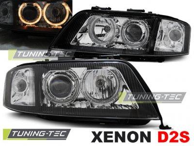 Фары передние Angel Eyes для Audi A6 C5 рестайл XENON