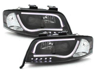 Фары передние Dlite Evo Black для Audi A6 C5 рестайл