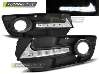 Дневные ходовые огни DRL в птф на Audi Q5