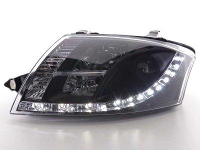 Фары передние Devil Eyes Black для Audi TT 8N
