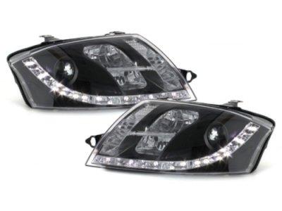Фары передние Dayline Black для Audi TT 8N