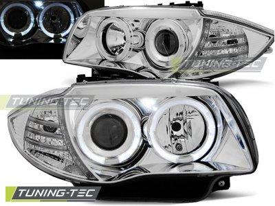 Фары передние Tuning-Tec Angel Eyes LED Chrome для BMW 1 E87 / E81