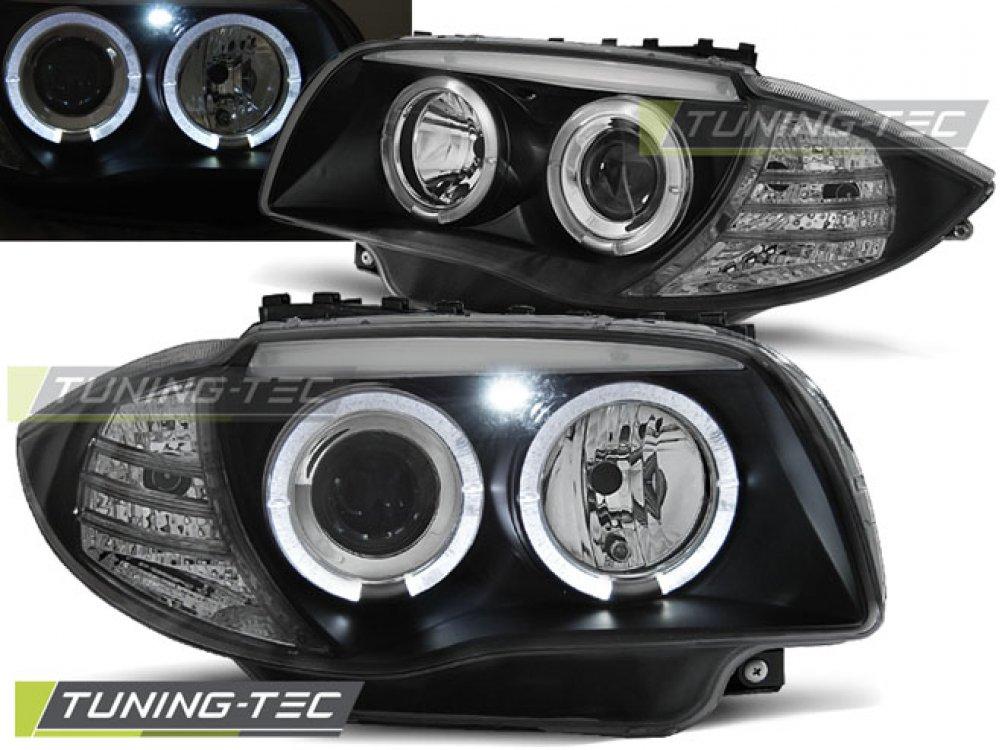 Фары передние Tuning-Tec Angel Eyes LED Black для BMW 1 E87