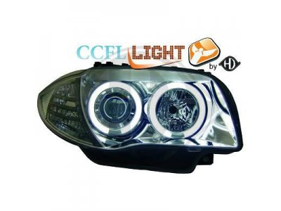 Передняя альтернативная оптика HD CCFL Angel Eyes Chrome для BMW 1 E87