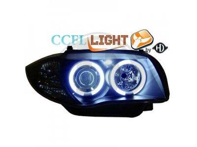Передняя альтернативная оптика HD CCFL Angel Eyes Black для BMW 1 E87