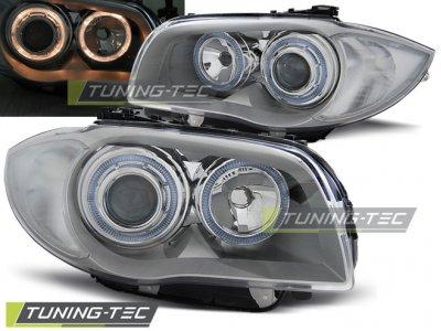 Фары передние Tuning-Tec Angel Eyes Chrome для BMW 1 E87 / E81