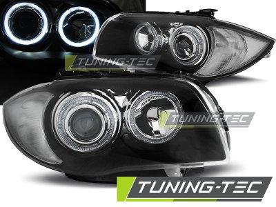 Фары передние Tuning-Tec Neon Eyes Black для BMW 1 E87 / E81